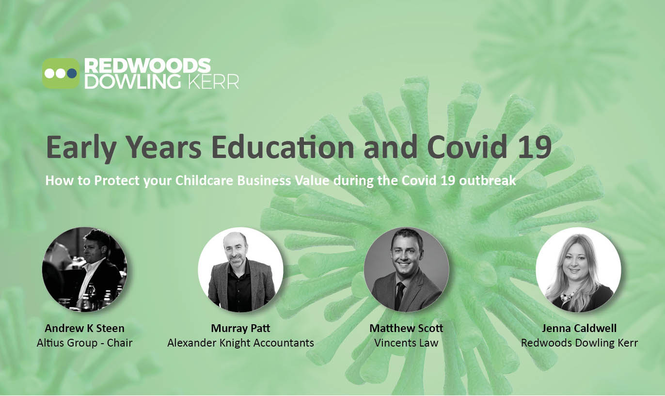 RDK Webinar – Early Years Education and Covid 19 – How to Protect your Childcare Business Value during the Covid 19 outbreak