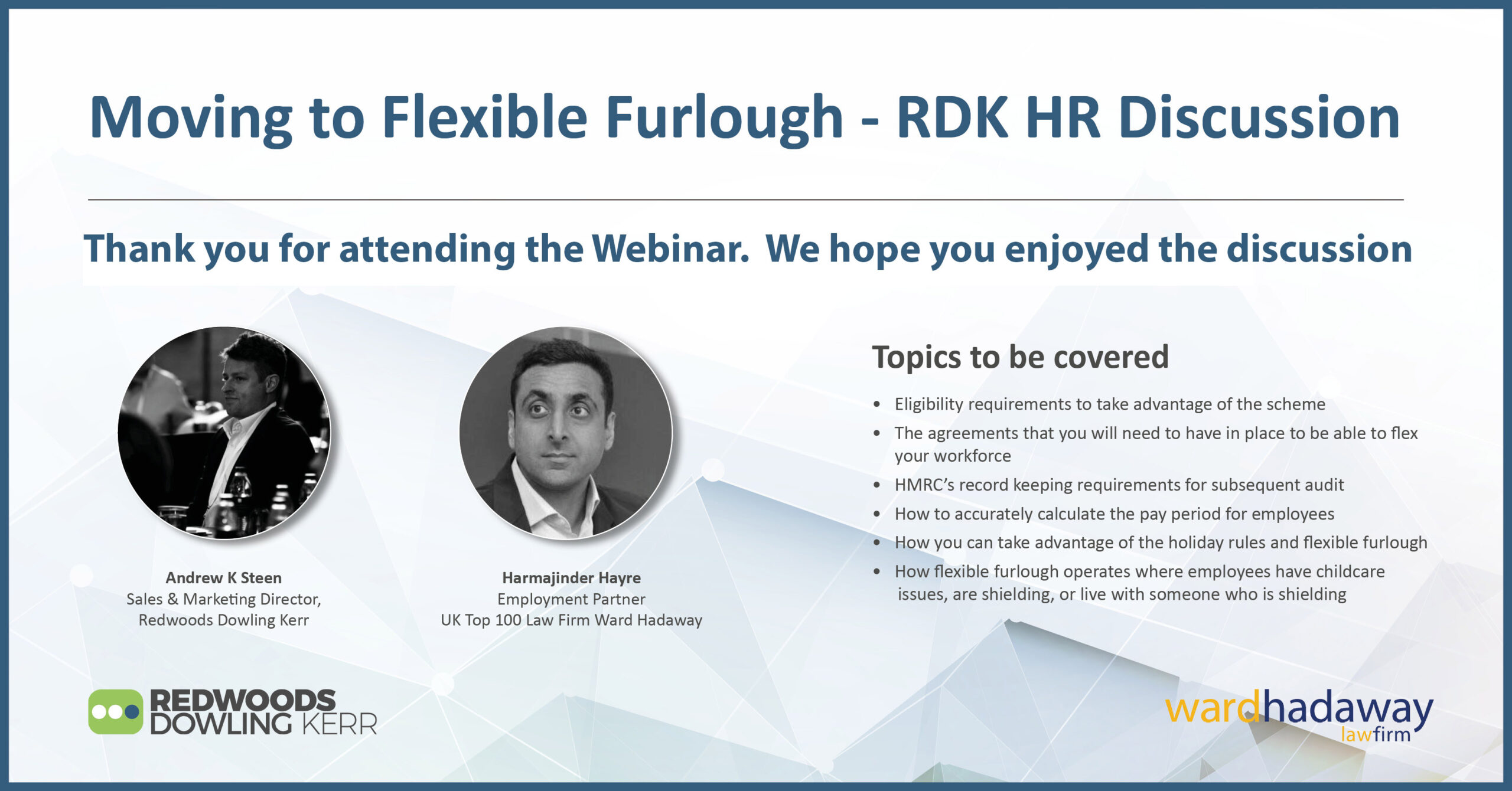 Moving to Flexible Furlough – RDK HR Discussion