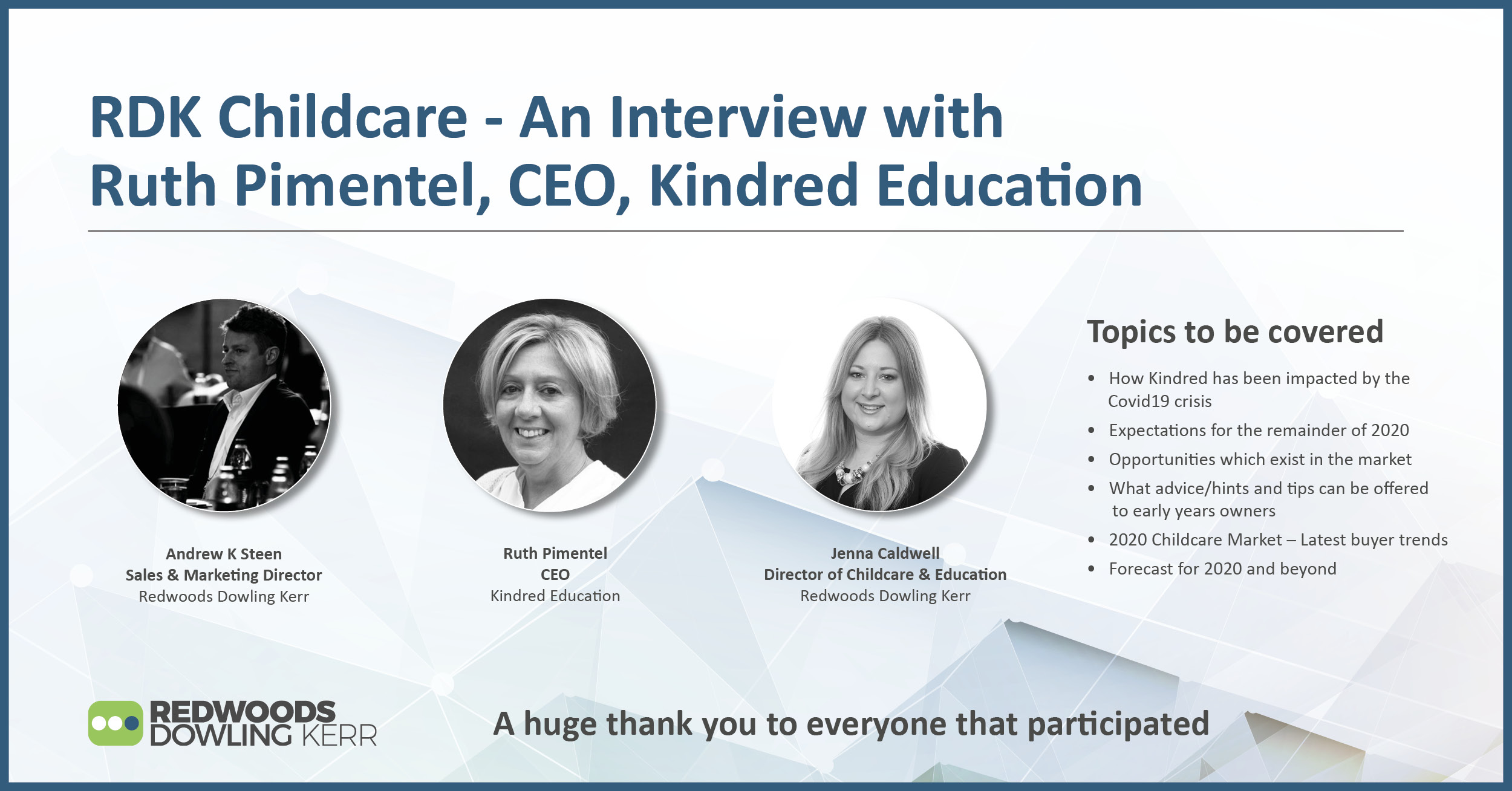 RDK Childcare – An Interview with Ruth Pimentel, CEO, Kindred Education