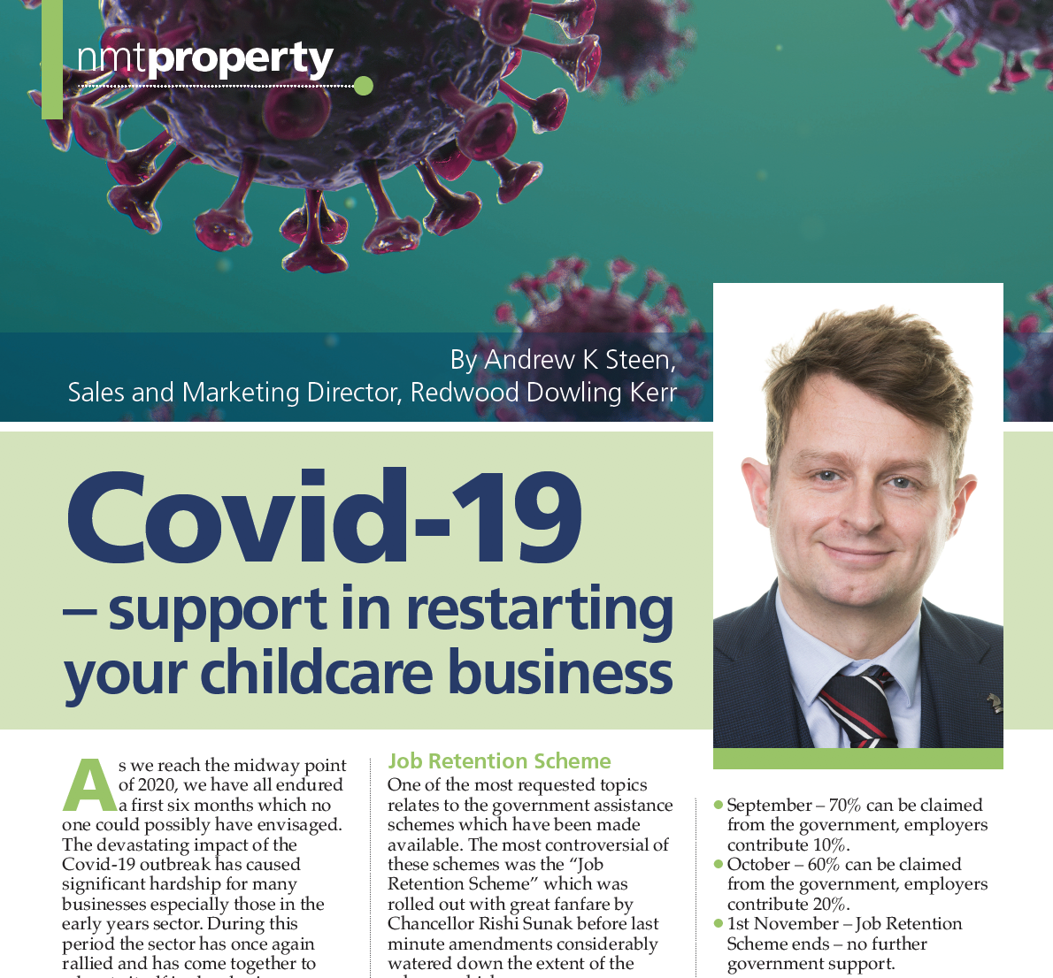 NMT Article Published on Covid19 – Support in Restarting your Childcare Business